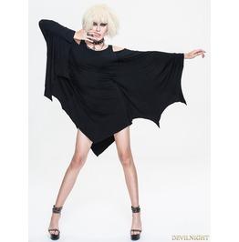 Black Dark Style Gothic Bat Dress Skt038