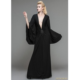 Black Gothic Persephone Maxi Dress Skt040