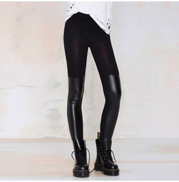 New Arrival Street Fashion Black Slim Pu Leather Skinny Thin Leggings
