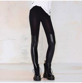 New Arrival Street Fashion Black Slim Pu Leather Skinny Thin Leggings
