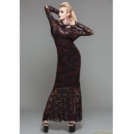 Red Lace Romantic Gothic Long Dress Skt03202