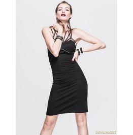 Little Black Unique Design Gothic Dress Skt027