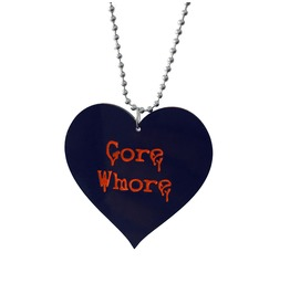 Gore Whore Heart Necklace