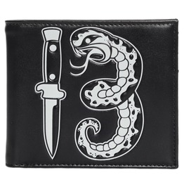 Kustom Kreeps Snake 13 Black Rockabilly Wallet