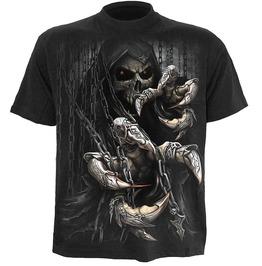 Black New Men Reaper Death Skulls T Shirt