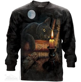 Men New Black Cat Long Sleeve Mountain Witching T Shirt