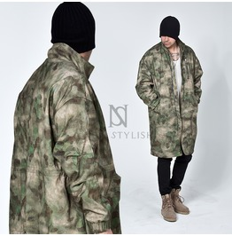 Camouflage Military Zippered Long Jacket 245