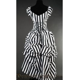 Striped Victorian Dress
