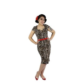 Fitted Audrey Leopard Holiday Dress