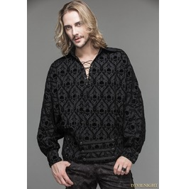 Black Gothic Medieval Style Shirt For Men Sht020