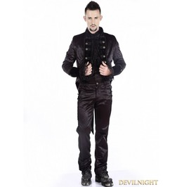 Black Gothic Tuxedo Jacket For Men M080021 Bk