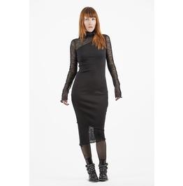 Black Dress, Sheer Dress, Long Sleeve Dress