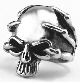 Stainless steel skull skeleton design fashion ring rings