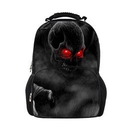 Unisex Cool Black Backpack Fashion Skeleton School Shoulder Bags
