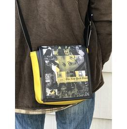 Mini, Nyt Print, Benga Rabbit, Yellow Vegan Leather, Messenger Bag