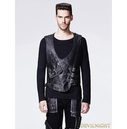 Rebelsmarket leather gothic steampunk vest for men y 598 vests 7