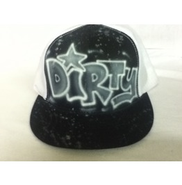 Dirty Airbrushed Trucker Hat