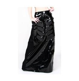 Womens Pvc Skirt Murder Skirt Black Panels
