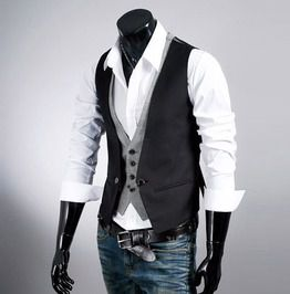 Double layered casual vest waistcoat vests
