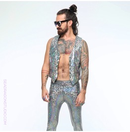 Rebelsmarket holographic meggings leggings for men pants 10