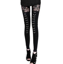 Punk Rock Lace Splice Leggings