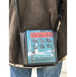 Mini, Mania Print, Benga Rabbit, Brown Vegan Leather, Messenger Bag