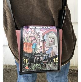 Mini, Berlin Print, Benga Rabbit, Mauve Vegan Leather Messenger Bag
