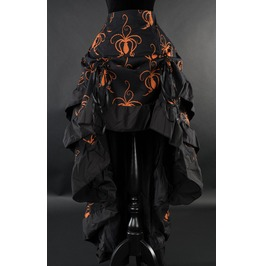 Octopus Steampunk Black Orange Bustle Layer Gothic Pirate Skirt $6 To Ship