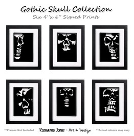 Gothic Skull Collection Signed Prints Roseanne Jones