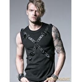 Black Gothic Rib Shirt With Ether Belt T 351 Bk