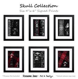 Skull Collection Signed Prints Roseanne Jones