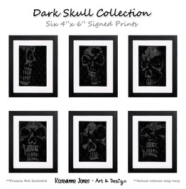 Dark Skull Collection Signed Prints Roseanne Jones