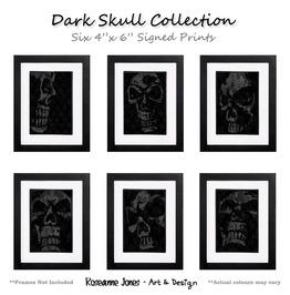 Dark Skull Collection Signed Prints Roseanne Jones