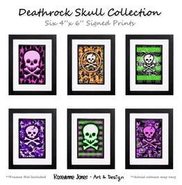 Deathrock Skull Collection Signed Prints Roseanne Jones
