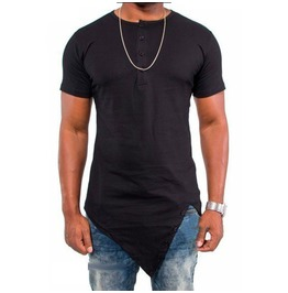 Street Fashion Men's Irregular T Shirt