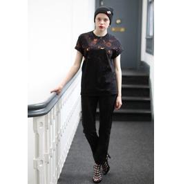 Pretty Disturbia Black Unisex Punk Grunge Roses & Hearts Tattoo T Shirt