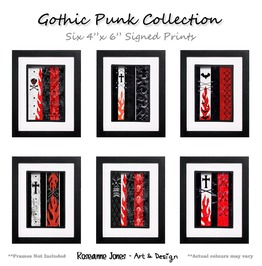 Gothic Punk Collection Signed Prints Roseanne Jones