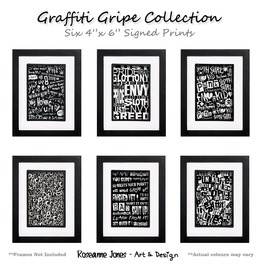 Graffiti Gripe Collection Signed Prints Roseanne Jones