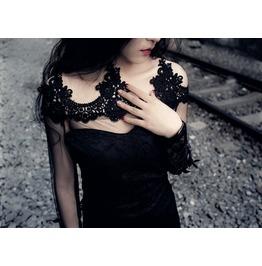 Gothic Fashion Women Sexy Black Lace Dresses