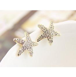 Cute Rhinestone Star Stud Earrings
