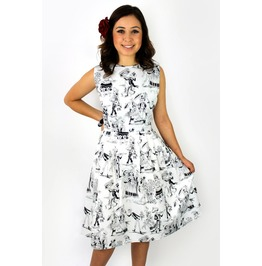 Black And White Day Of The Dead Skater Dress