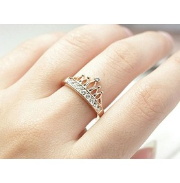 Fashion Golden Aesthetic Crown Ring