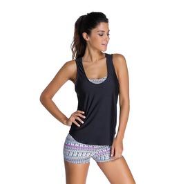 Sports Bra New Tankini Swimsuit Women Swimsuit Swimwear Black Vest