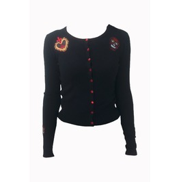 Banned Apparel Sacred Heart Knit Cardigan