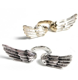 Tremendous Metal Wing Ring 17