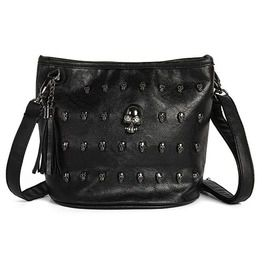 53ec7e0f4be6 Pu Leather Skull Rivet Shoulder Crossbody Bag