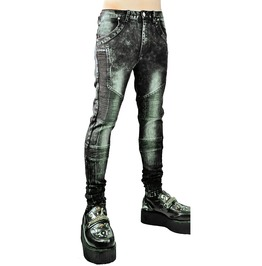 Cryoflesh 5 Pocket Ribbed Skinny Jeans For Men