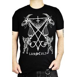 Cryoflesh Black Graphic Tee With Seal Of Lucifer Print
