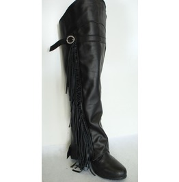 Leg Boots Half Chaps With Fringe