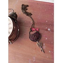 Heart Key Vintage Necklace